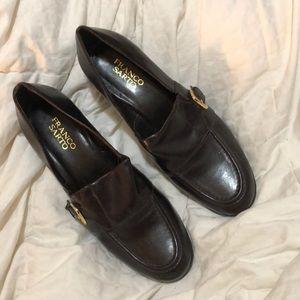 "Like new 8.5 brn Franco Sarto dress shoes 2"" heel"